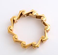 Jean Puiforcat Puiforcat Diamond and Gold Tank Bracelet - 2142589