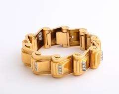 Jean Puiforcat Puiforcat Diamond and Gold Tank Bracelet - 2142591