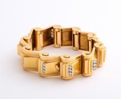 Jean Puiforcat Puiforcat Diamond and Gold Tank Bracelet - 2142592