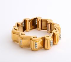 Jean Puiforcat Puiforcat Diamond and Gold Tank Bracelet - 2142593