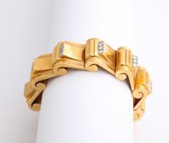 Jean Puiforcat Puiforcat Diamond and Gold Tank Bracelet - 2142594