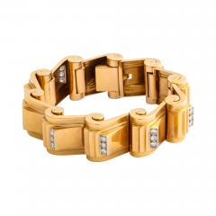 Jean Puiforcat Puiforcat Diamond and Gold Tank Bracelet - 2155727