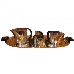 Jean Puiforcat Puiforcat Elegant Silver plate Art Deco Tea Coffee Service Etchea  - 792083