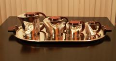 Jean Puiforcat Puiforcat Elegant Silver plate Art Deco Tea Coffee Service Etchea  - 848870