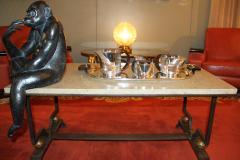Jean Puiforcat Puiforcat Elegant Silver plate Art Deco Tea Coffee Service Etchea  - 848871