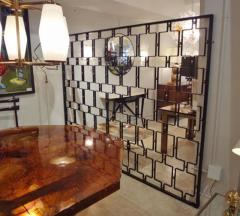 Jean Roy re A Large Wrought Iron and Brass Screen by Jean Royere - 255586