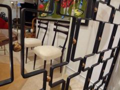 Jean Roy re A Large Wrought Iron and Brass Screen by Jean Royere - 255587