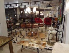 Jean Roy re A Large Wrought Iron and Brass Screen by Jean Royere - 255588