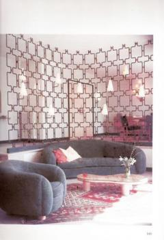Jean Roy re A Large Wrought Iron and Brass Screen by Jean Royere - 255591