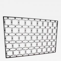 Jean Roy re A Large Wrought Iron and Brass Screen by Jean Royere - 256980