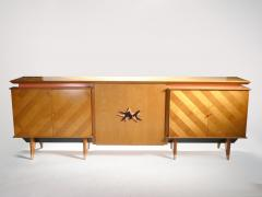 Jean Roy re French Mid century Large modernist oak sideboard Royere style 1950s - 983663