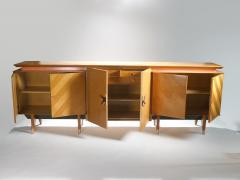 Jean Roy re French Mid century Large modernist oak sideboard Royere style 1950s - 983667