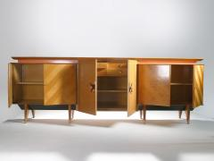 Jean Roy re French Mid century Large modernist oak sideboard Royere style 1950s - 983668