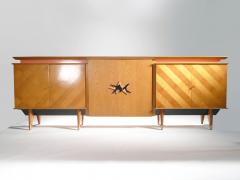 Jean Roy re French Mid century Large modernist oak sideboard Royere style 1950s - 983669