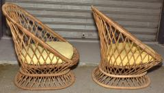 Jean Roy re Jean Roy re Documented Genuine Riviera Rattan Chairs from the 1950s - 378043