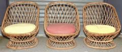 Jean Roy re Jean Roy re Documented Genuine Riviera Rattan Chairs from the 1950s - 378044