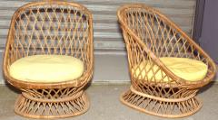 Jean Roy re Jean Roy re Documented Genuine Riviera Rattan Chairs from the 1950s - 378048