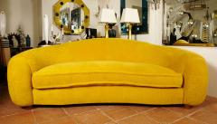 Jean Roy re Jean Roy re Genuine Iconic Ours Polaire Couch in Yellow Wool Faux Fur - 1037758