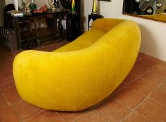 Jean Roy re Jean Roy re Genuine Iconic Ours Polaire Couch in Yellow Wool Faux Fur - 1037759