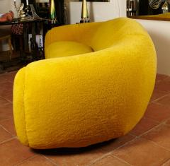 Jean Roy re Jean Roy re Genuine Iconic Ours Polaire Couch in Yellow Wool Faux Fur - 1037760