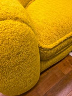 Jean Roy re Jean Roy re Genuine Iconic Ours Polaire Couch in Yellow Wool Faux Fur - 1037762