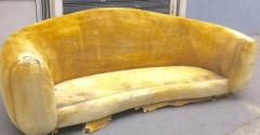 Jean Roy re Jean Roy re Genuine Iconic Ours Polaire Couch in Yellow Wool Faux Fur - 1037785