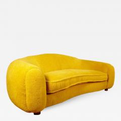 Jean Roy re Jean Roy re Genuine Iconic Ours Polaire Couch in Yellow Wool Faux Fur - 1039689