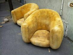 Jean Roy re Jean Roy re Genuine Iconic Ours Polaire pair of chairs in Wool Faux Fur - 1037666