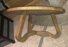 Jean Roy re Jean Roy re Genuine tripod oak coffee table in vintage condition - 1290446