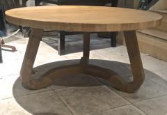 Jean Roy re Jean Roy re Genuine tripod oak coffee table in vintage condition - 1290451