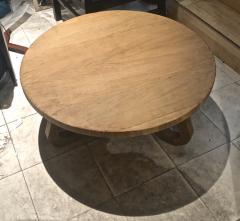 Jean Roy re Jean Roy re Genuine tripod oak coffee table in vintage condition - 1290452