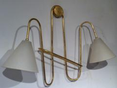 Jean Roy re Jean Royere Gold Leaf Iron Pair of Sconces - 605606