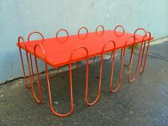 Jean Roy re Jean Royere Rare Documented Red Lacquered Model Vague Coffee Table - 375586