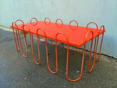Jean Roy re Jean Royere Rare Documented Red Lacquered Model Vague Coffee Table - 375589