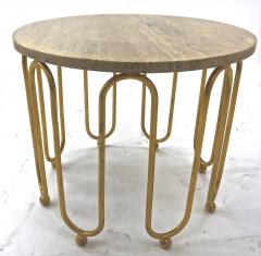 Jean Roy re Jean Royere attributed wave round coffee table - 996536