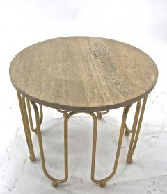Jean Roy re Jean Royere attributed wave round coffee table - 996552