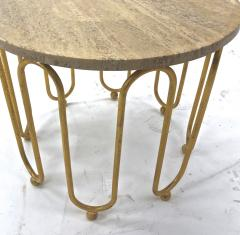 Jean Roy re Jean Royere attributed wave round coffee table - 996553