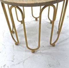 Jean Roy re Jean Royere attributed wave round coffee table - 996554