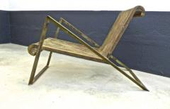 Jean Roy re Jean Royere early rarest documented perforated iron lounge chair - 976302