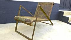 Jean Roy re Jean Royere early rarest documented perforated iron lounge chair - 976303