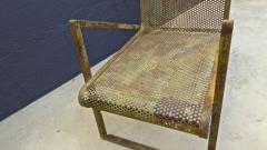 Jean Roy re Jean Royere early rarest documented perforated iron lounge chair - 976305