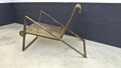 Jean Roy re Jean Royere early rarest documented perforated iron lounge chair - 976308