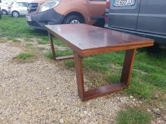 Jean Roy re Jean Royere for Gouff genuine rarest stamped rosewood long coffee table - 1204608