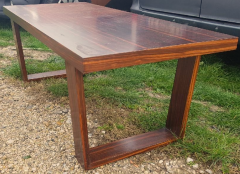Jean Roy re Jean Royere for Gouff genuine rarest stamped rosewood long coffee table - 1205640