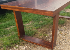 Jean Roy re Jean Royere for Gouff genuine rarest stamped rosewood long coffee table - 1205643