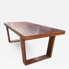 Jean Roy re Jean Royere for Gouff genuine rarest stamped rosewood long coffee table - 1206319