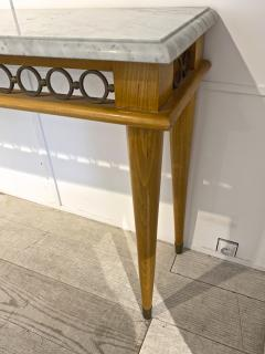 Jean Roy re Jean Royere genuine longest ash tree chicest console with gold bronze accent - 1584888