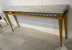 Jean Roy re Jean Royere genuine longest ash tree chicest console with gold bronze accent - 1584889