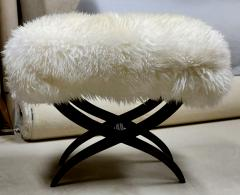 Jean Roy re Jean Royere iconic sheep fur stool - 1838533