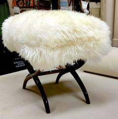 Jean Roy re Jean Royere iconic sheep fur stool - 1838538